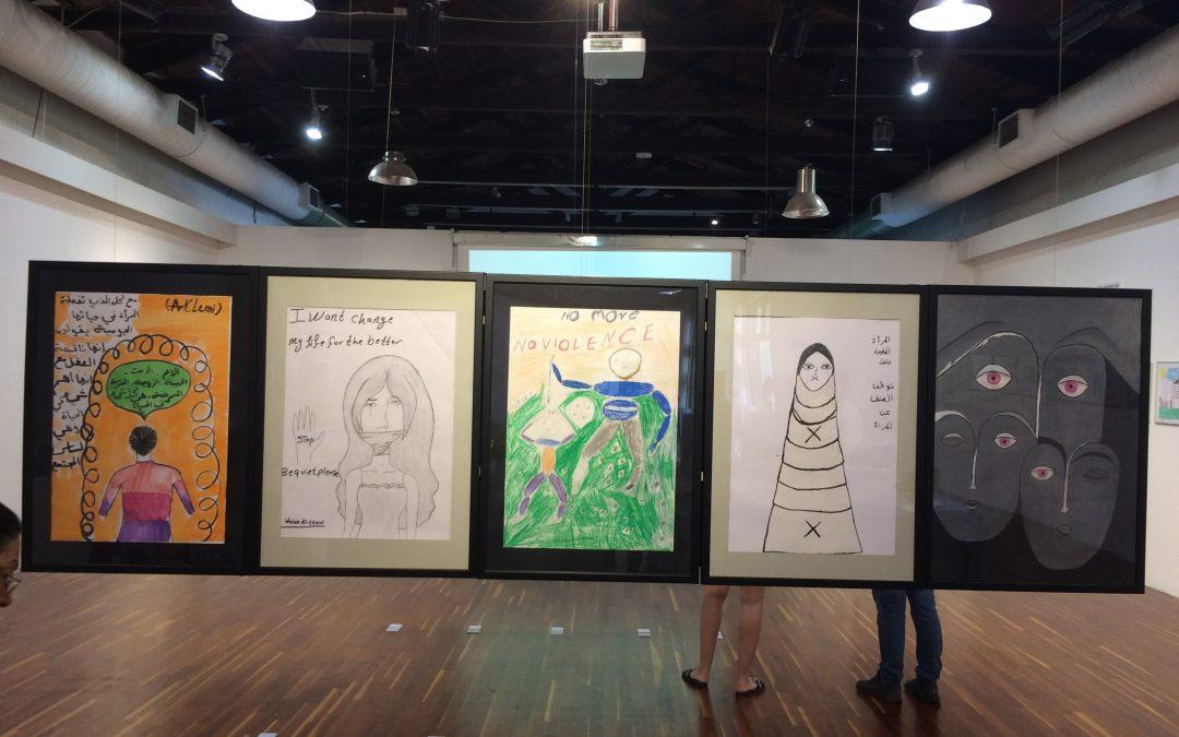 Κορίτσια της Κάριτας Ελλάς ζωγραφίζουν κατά της έμφυλης βίας