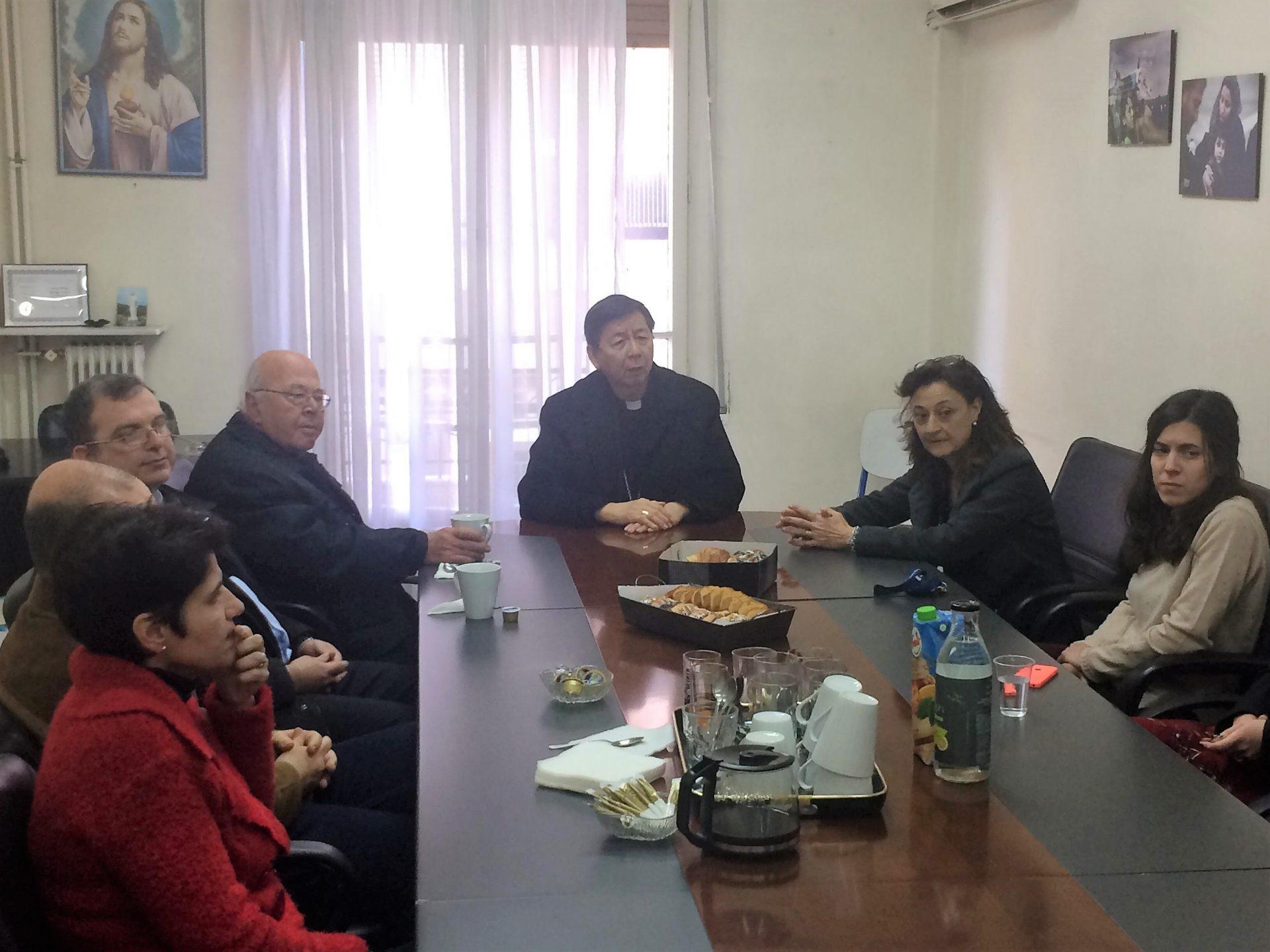 Ο Αποστολικός Νούντσιος στην Ελλάδα επισκέφτηκε τα κεντρικά γραφεία της Κάριτας Ελλάς