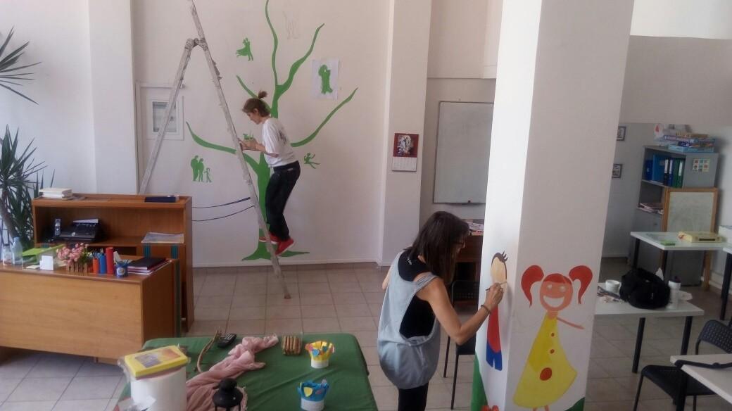 Τα παιδιά ζωγραφίζουν το χώρο τους