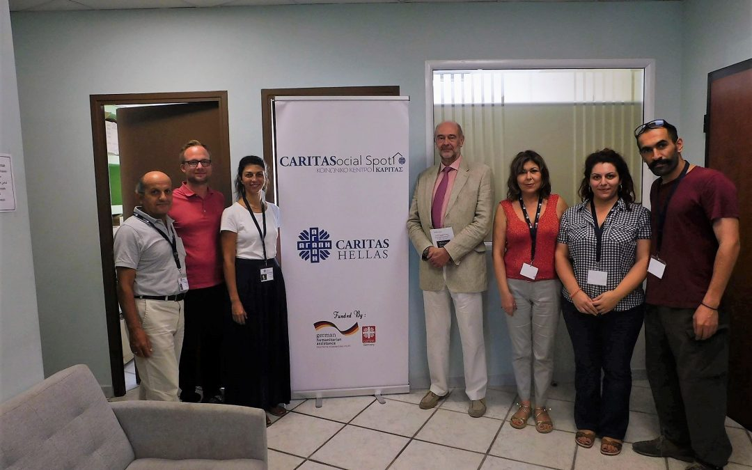 Visit of the German Consulate at the Caritas' Social Center in Thessaloniki