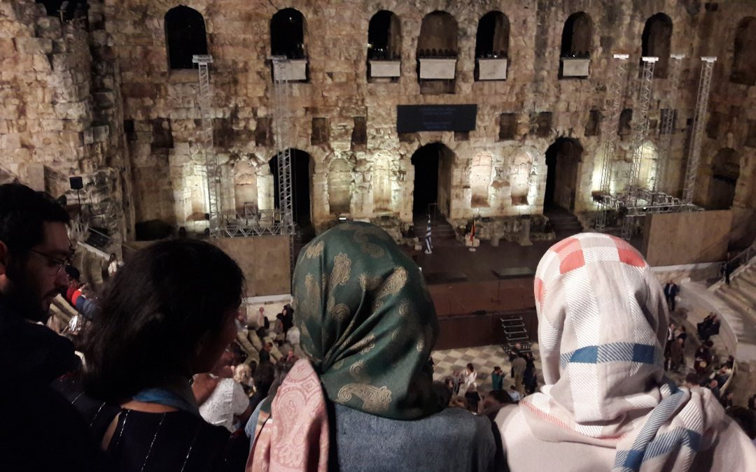 "Caritas Hellas ""Theatrical Group"" visited ""Herodes Atticus"" Odeon"