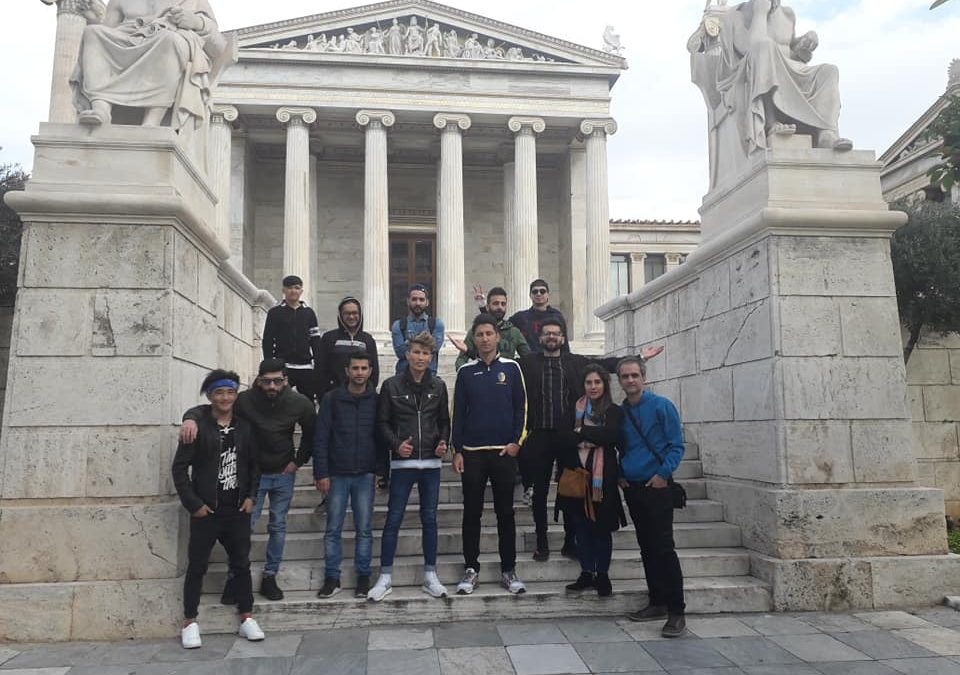 "The group of ""Discover Athens"" to the Museums of Athens and the Carnival Festival"
