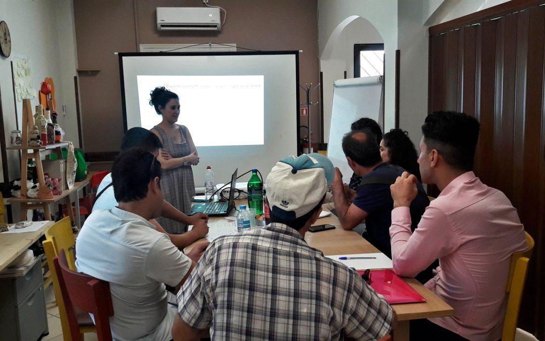 """Workshop to develop job interview skills at Caritas Social Spot in Neos Kosmos"""