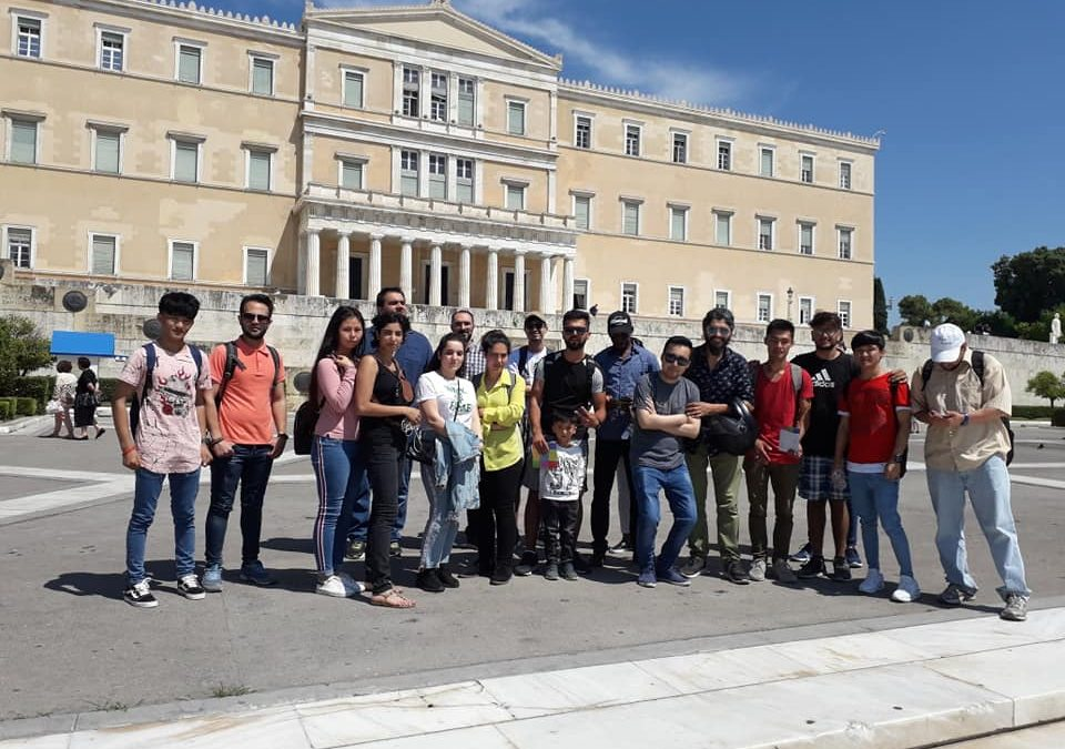 "The ""Youth Empowerment Group-Discover Athens"" to the Greek Parliament"