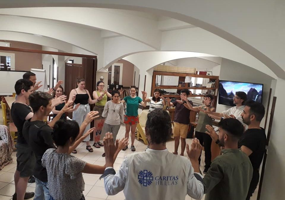 Theatrical Workshop at the Social Spot of Caritas Hellas in Neos Kosmos by Davidson College of North Carolina